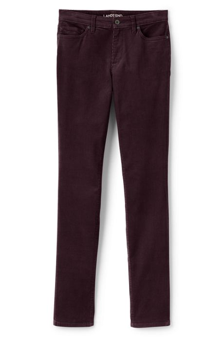 Women's Tall Mid Rise Slim Leg Corduroy Pants