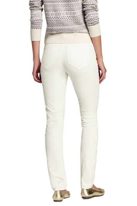 Women's Petite Mid Rise Slim Leg Corduroy Pants