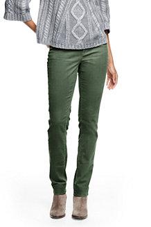 Le Pantalon Slim Stretch en Velours Côtelé Taille Mi-Haute