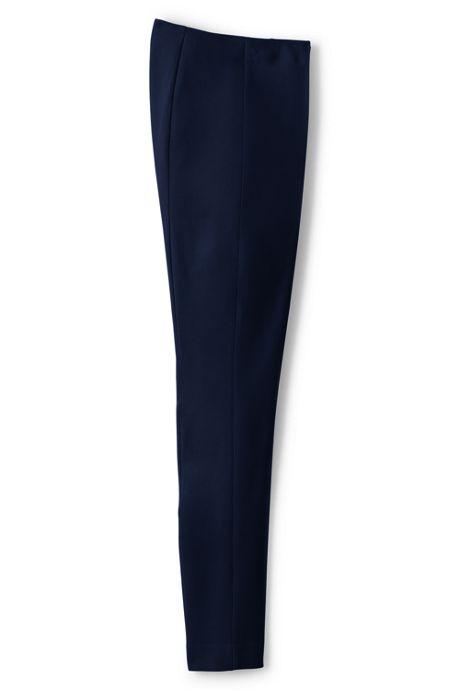 Women's Plus Size Mid Rise Bi-Stretch Slim Leg Pants
