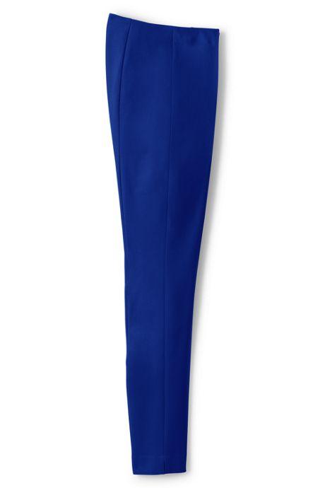 Women's Petite Mid Rise Bi-Stretch Slim Leg Pants