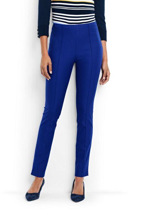 Women's Mid Rise Bi-Stretch Slim Leg Pants