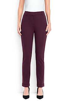 Women's Ponté Jersey Slim Leg Ankle Trousers.