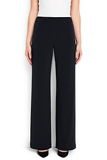 Women's Crepe Wide Leg Trousers