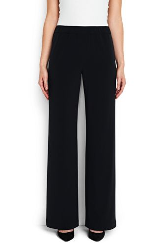 Women's Regular Crepe Wide Leg Trousers
