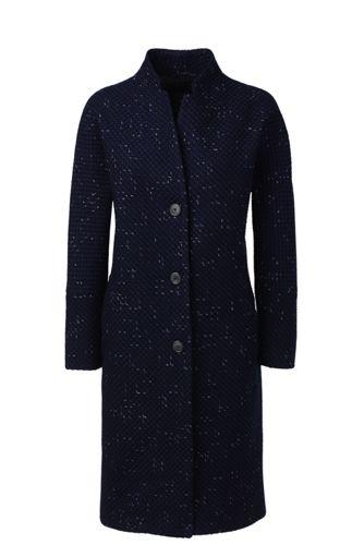 Lange Bouclé-Jacke mit Lurex für Damen