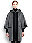 Women's Regular Wool Blend Hooded Cape