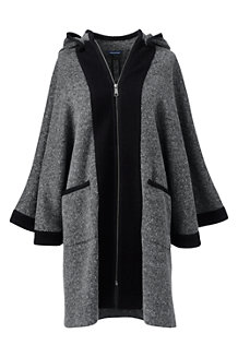 Women's Wool Blend Hooded Cape