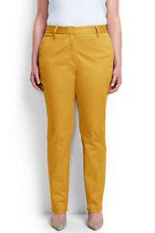 Mid Rise Straight Leg Chino Pants