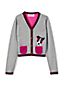 Girls' Sophie V-Neck Intarsia Cardigan