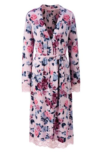 Women's Regular Patterned Modal Dressing Gown