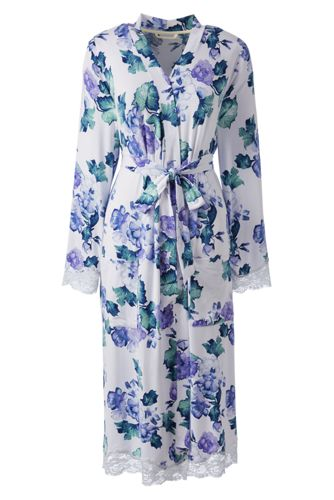 Women's Regular Patterned Modal Jersey Dressing Gown