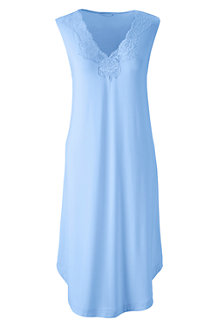 Women's Plain Modal Lace V-neck Sleeveless Nightgown
