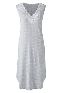 Women's Patterned Modal Lace V-neck Sleeveless Nightgown