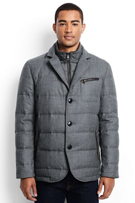 Men's Wool Flannel Quilted Blazer