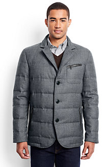 Men's Quilted Flannel Blazer