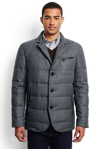 Men's Regular Quilted Flannel Blazer