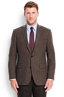 Men's Herringbone Wool Blazer