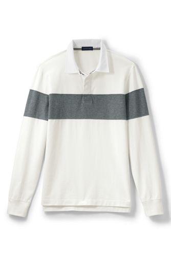 Men's Regular Chest Stripe Rugby Shirt