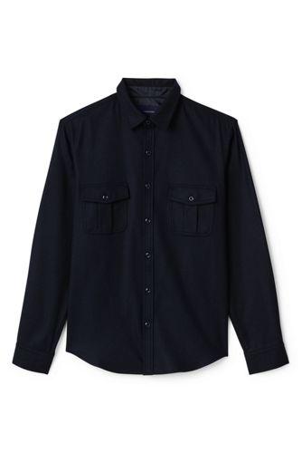 Men's Regular Wool Blend Overshirt