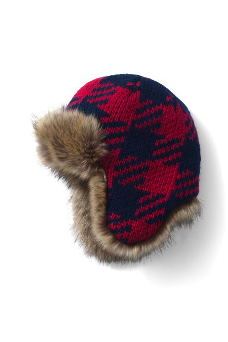 School Uniform Kids Chunky Knit Trapper Hat