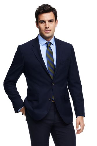 Men's Tailored Fit Year'rounder Suit Jacket by Lands' End