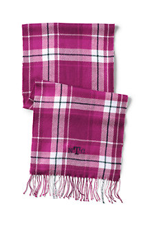 Women's CashTouch Plaid Fringed Scarf