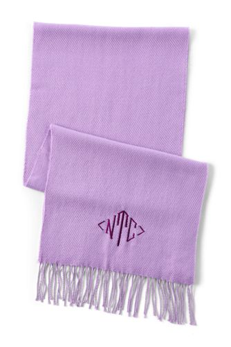 Women's CashTouch Plain Fringed Scarf