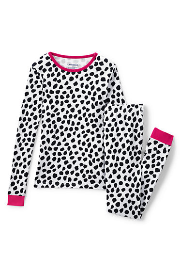 Girls Snug Fit Pattern PJ Set from Lands  End 7a10e8f83