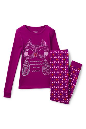 Girls' Snug Fit Jersey Pyjamas