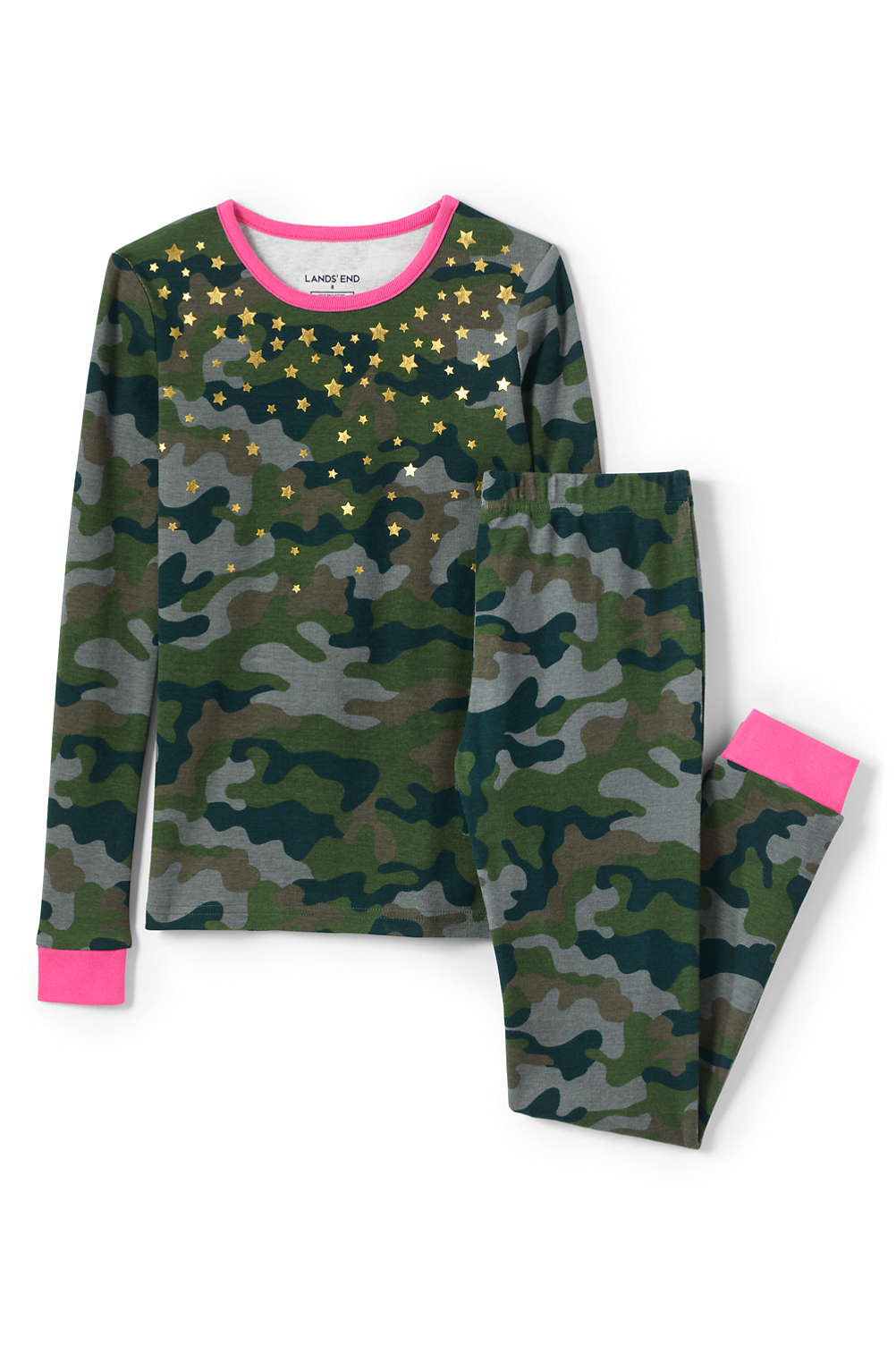 464534893b Girls Snug Fit Pajama Set from Lands  End