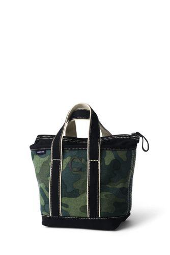 Small Zip Top Canvas Tote Bag