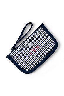 Kleine Canvas-Zippertasche mit Printmuster für Damen