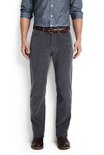 Men's Regular Fit 14-wale Corduroy Pants from Lands' End