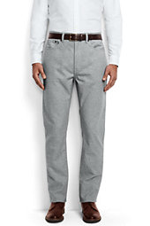 Straight Fit Cotton Flannel 5-pocket Pants