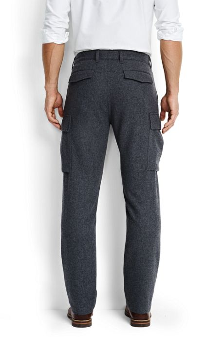 Men's Utility Fit Wool Cargo Pants