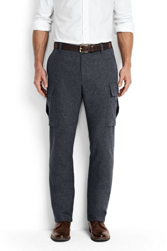 Men's Regular Wool Blend Cargo Trousers