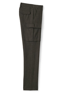 Men's Wool Blend Cargo Trousers