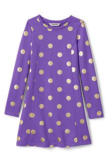 Gemustertes French Terry-Kleid für Mädchen