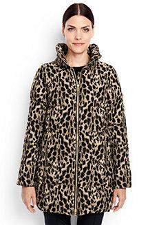 Le Manteau en Duvet Imprimé Animal, Femme