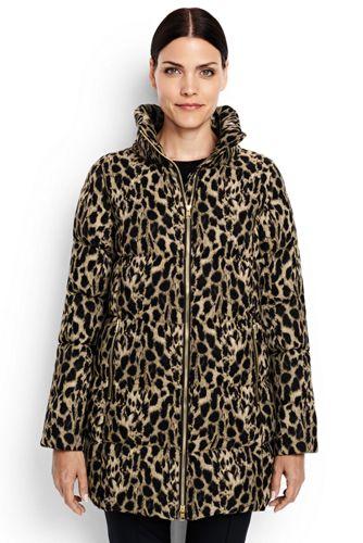 Women's HyperDRY Cheetah Print Down Coat