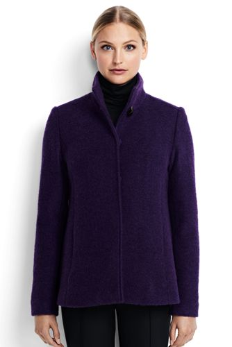 Women's Textured Wool Jacket from Lands' End
