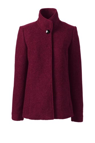 Women's Regular Textured Wool Blend Jacket