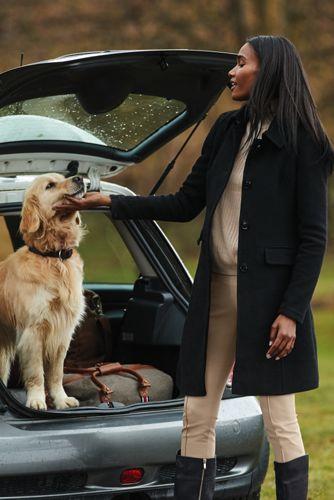 Women's Regular Wool Blend Car Coat