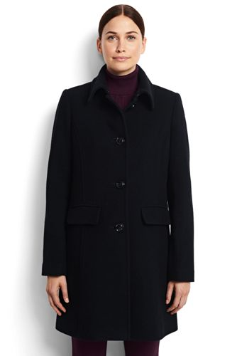 Women's Wool Car Coat from Lands' End