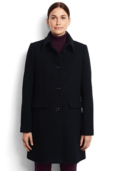 Women's Petite Wool Car Coat