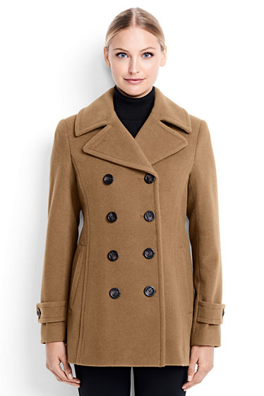 Women's Wool Peacoat from Lands' End