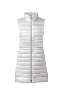 Women's Lightweight Packable HyperDRY Down Long Gilet