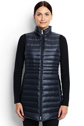 Women's Regular Lightweight Packable HyperDRY Down Long Gilet