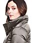 Le Manteau Long en Duvet Léger Classique Effet Brillant Femme, Petite Taille